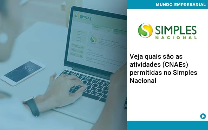 Veja Quais São As Atividades (cnaes) Permitidas No Simples Nacional - Abrir Empresa Simples - Veja quais são as atividades (CNAEs) permitidas no Simples Nacional